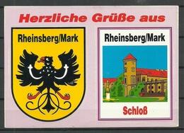 Deutschland Ansichtskarte - Aufkleber Rheinsberg / Mark, Gesendet, Mit Briefmarke - Rheinsberg