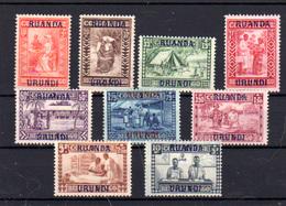 1930  Ruanda-Urundi 1930, Oeuvre La Goutte De Lait, 81 / 89 *, Cote 70 € - Ruanda-Urundi