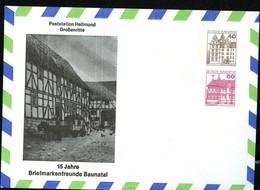 Bund PU193 B2/001 POSTSTATION HELLMUND GROSSENRITTE Baunatal 1984 - Post