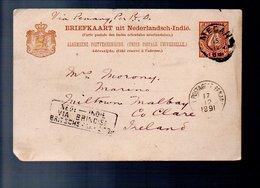 VIA BRINDIDI Rare POSTAGENT PENANG 1891 (212) - Nederlands-Indië