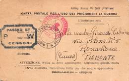 """1379 """" CARTA POSTALE PER L'USO DEI PRIGIONIERI DI GUERRA-DAL GEN. PETTAVINO MARIO ALLA MADRE"""" CART. POST. ORIG. SPED. - Guerra 1939-45"""