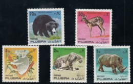 Fujeira Animal Theme, Lot Of 5x 30- 70-dh 1- 2- 3-rl 1971 Issue Stamps - Fujeira