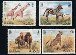 Ras Al-Khaimah Animal Theme, Lot Of 6 Stamps & 1 Mini Souvenir Sheet  1972 Issue Stamps - Ras Al-Khaima