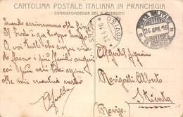 "1381 "" CARTOLINA POSTALE ITALIANA IN FRANCHIGIA -CORRISPONDENZA R. ESERCITO"" CART. POST. ORIG. SPED. - 1900-44 Victor Emmanuel III"