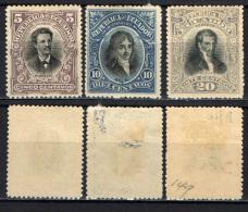 ECUADOR - 1901 - PERSONALITA' DELL'ECUADOR - MH - Ecuador