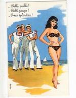CARRIERE  Belle Quille Belle Poupe Proue Splendide, Marins, Femme En Bikini - Carrière, Louis