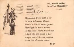 """1382 """" AI NOSTRI SOLDATI IN AFRICA ORIENTALE - PREGHIERA"""" CART. POST. ORIG. SPED. - War 1939-45"""