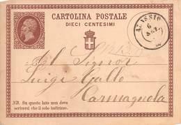 "1385 ""CARTOLINA POSTALE DA 10 CENTESIMI"" CART. POST. ORIG. SPED. - 1861-78 Victor Emmanuel II."