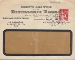 LSC 1934 - ST LAURENT DU PONT (Isère) - DISTILLERIE BONAL - Liqueur Bonal - La Raphaelle - Gentiane Quina Bonal - 1921-1960: Modern Tijdperk