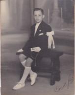 JOVEN YOUNG BOY JEUNE GARÇON COMUNION COMMUNION. VINTAGE PHOTO ORIGINAL.SIGNE.CIRCA 1940's SIZE 18x23.5 Cm TBE- BLEUP - Personnes Anonymes