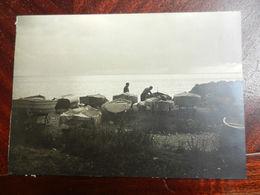 DOC5) GENOVA BOCCADASSE FEBBRAIO 1954 FOTO PIAZZALE NUOVO CON BARCHE FORMATO 17 X 12 Cm - Barche