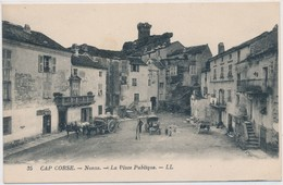 CORSE CPA NONZA - La Place Publique -  Animé - Francia