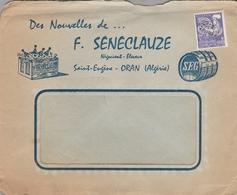"""LSC Illustrée - Entête """"Des Nouvelles De..F. SENECLAUZE - Négociant éleveur - Saint Eugène - ORAN  (Algérie) """" - Algeria (1924-1962)"""