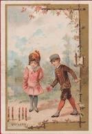 Old Chromo (Liebig Style) Quilles Litho Lithographie Kinderen Enfants Children Playing Jeu De Quilles Kegelspel - Autres