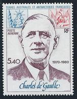 TAAF 1980 - YT PA N°61 - 5 F. 40 - Anniversaire Mort Général De Gaulle - NEUF** - TTB Etat - Poste Aérienne