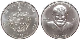 5 Pesos 1982 (Cuba) Silver - Cuba