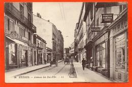 CPA - D83 - HYERES - Oblitéré 1924 - AVENUE  DES  ILES  D'OR - No 34 - ( Divers Commerces TABAC ) - Hyeres