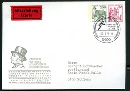OLYMPIC CHAMPION DRESSAGE FREIHERR VON LANGEN Germany PU202 D2/001 Used EXPRESS Special Postmark 1978 - Summer 1928: Amsterdam
