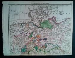 L'Allemagne Dressée Par Hérisson, Carte Géographique Ancienne - Carte Geographique