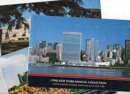 LOT ONU  1990  3  ENCARTS  TP NEUFS    COTE   75,70 Euro - Timbres