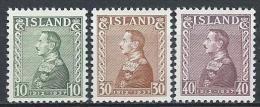 Islande 1937 N°164/166  Neufs ** MNH.  Jubilé Du Roi Christian X, Cote 13,50 Euros - 1918-1944 Amministrazione Autonoma