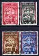 Albania 1945 Red Cross Surcharged Set Of 4 U/m, SG 425-28, Mi 375-378 RED CROSS MEDICAL - Albania