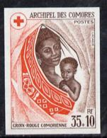 Comoro Islands 1974 Red Cross Fund 35f + 10f Imperf From Limited Printing, U/m As SG 156* RED CROSS MEDICAL - Comoros