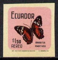Ecuador 1970 Butterflies $1.50 (Anartia Amathea) U/m Imperf With Coloured Background (as SG 1389)* - Ecuador