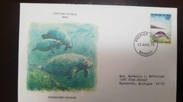L) 1979 MALI, AFRICAN MANATEE, NATURE, FAUNA, 100F, CIRCULATED COVER FROM MALI TO USA - Mali (1959-...)