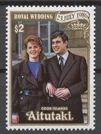 Aitutaki 1986 Mi# 588** WEDDING OF PRINCE ANDREW AND SARAH FERGUSON - Aitutaki
