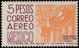 Mexico 1962-75 5p Queretaro White Fluorescent Paper Wmk Multi MEX-MEX Photogravure Unmounted Mint. - Mexico