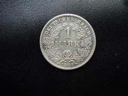 ALLEMAGNE : 1 MARK   1908 E    KM 14     TTB - [ 2] 1871-1918 : German Empire