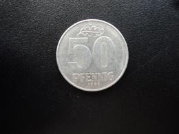 RÉPUBLIQUE DÉMOCRATIQUE ALLEMANDE : 50 PFENNIG   1981 A   KM 12.2     SUP - [ 6] 1949-1990 : GDR - German Dem. Rep.