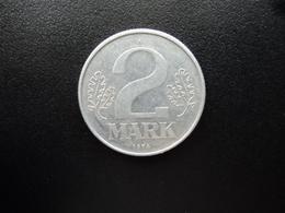 RÉPUBLIQUE DÉMOCRATIQUE ALLEMANDE : 2 MARK   1974 A    KM 48     SUP - [ 6] 1949-1990 : GDR - German Dem. Rep.