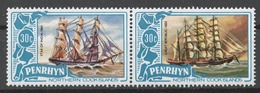 Penrhyn 1981 Mi# 203-04** DEFINITIVES, SHIPS - Penrhyn