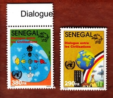 Senegal,2001- Dialogue Entre Le Civilisation. Full Set MintNH - Senegal (1960-...)
