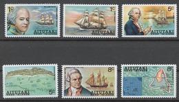 Aitutaki 1974 Mi# 106-11** CAPTAIN WILLIAM BLIGH, EUROPEAN DISCOVERER OF AITUTAKI - Aitutaki