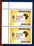 Senegal,2017- En Avant Pour Une Nouvelle Afrique. Block Of Two By 450FCFA. MintNH - Senegal (1960-...)