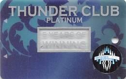 Thunder Valley Casino Lincoln CA - BLANK 5 Yr Anniversary Slot Card - Casino Cards
