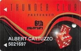 Thunder Valley Casino Lincoln CA - 6 Yr Anniversary Slot Card - Casino Cards