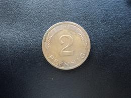 RÉPUBLIQUE FÉDÉRALE ALLEMANDE : 2 PFENNIG   1973 D    KM 106a     SUP - [ 7] 1949-… : FRG - Fed. Rep. Germany