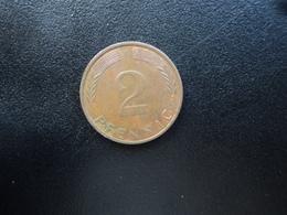RÉPUBLIQUE FÉDÉRALE ALLEMANDE : 2 PFENNIG   1974 G    KM 106a     SUP Taché - [ 7] 1949-… : FRG - Fed. Rep. Germany