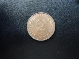 RÉPUBLIQUE FÉDÉRALE ALLEMANDE : 2 PFENNIG   1986 D    KM 106a     SUP - [ 7] 1949-… : FRG - Fed. Rep. Germany