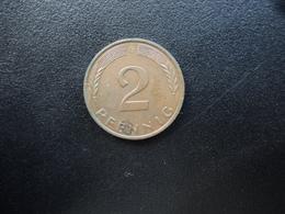 RÉPUBLIQUE FÉDÉRALE ALLEMANDE : 2 PFENNIG   1986 G    KM 106a     SUP - [ 7] 1949-… : FRG - Fed. Rep. Germany