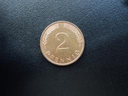 RÉPUBLIQUE FÉDÉRALE ALLEMANDE : 2 PFENNIG   1986 J    KM 106a     SUP - [ 7] 1949-… : FRG - Fed. Rep. Germany