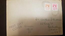 L) 1937 NAURU, KING GEORGE VI, CORONATION, 2D, ORANGE, RED, CIRCULATED COVER FROM NAURU TO USA - Nauru
