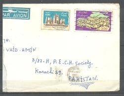 USED AIR MAIL COVER ALGERIA TO PAKISTAN - Algeria (1962-...)