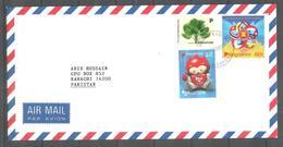 USED AIR MAIL COVER SINGAPORE TO PAKISTAN - Singapore (1959-...)
