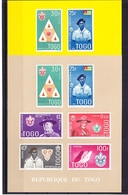 Togo Block 5IIa-5IIb Mit 313-318 ** Postfrisch Pfadfinder #RE398 - Togo (1960-...)