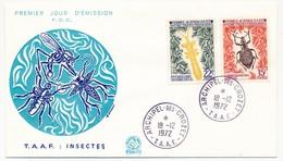TAAF - Enveloppe FDC - Insectes - Archipel Des Crozet - 18/12/1972 - FDC